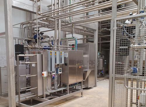 Línea para producir diferentes productos lácteos